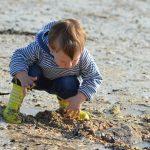 child, beach, sand